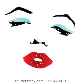 clipart of a beautiful woman with red li-clipart of a beautiful woman with red lips and blue eyeshadow-14