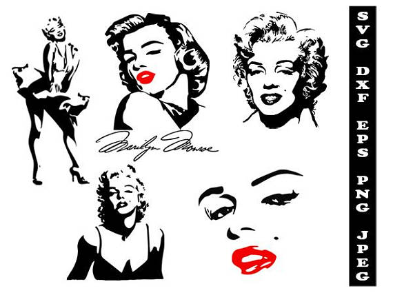 Marilyn Monroe svg, celebrity svg, celeb-Marilyn Monroe svg, celebrity svg, celebrity clipart, Marilyn Monroe dxf,  celebrity shirt svg, silhouette celebrity svg, svg shirts, svg-10
