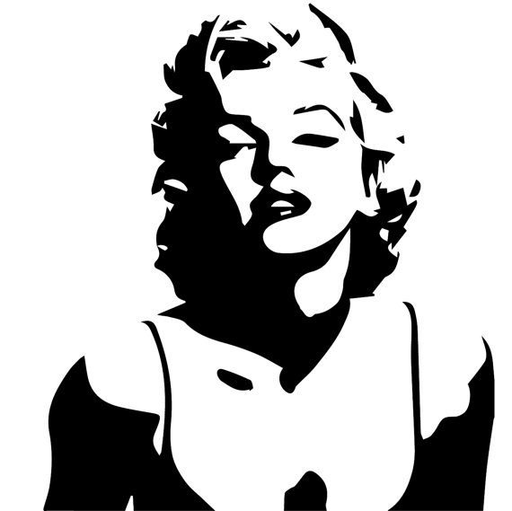 SVG Marilyn Silhouette file, Marilyn Mon-SVG Marilyn Silhouette file, Marilyn Monroe eps files, Actress, Movies,  Music, instant download, SVG file, cutting files from SVGFilesLab on Etsy  Studio-5