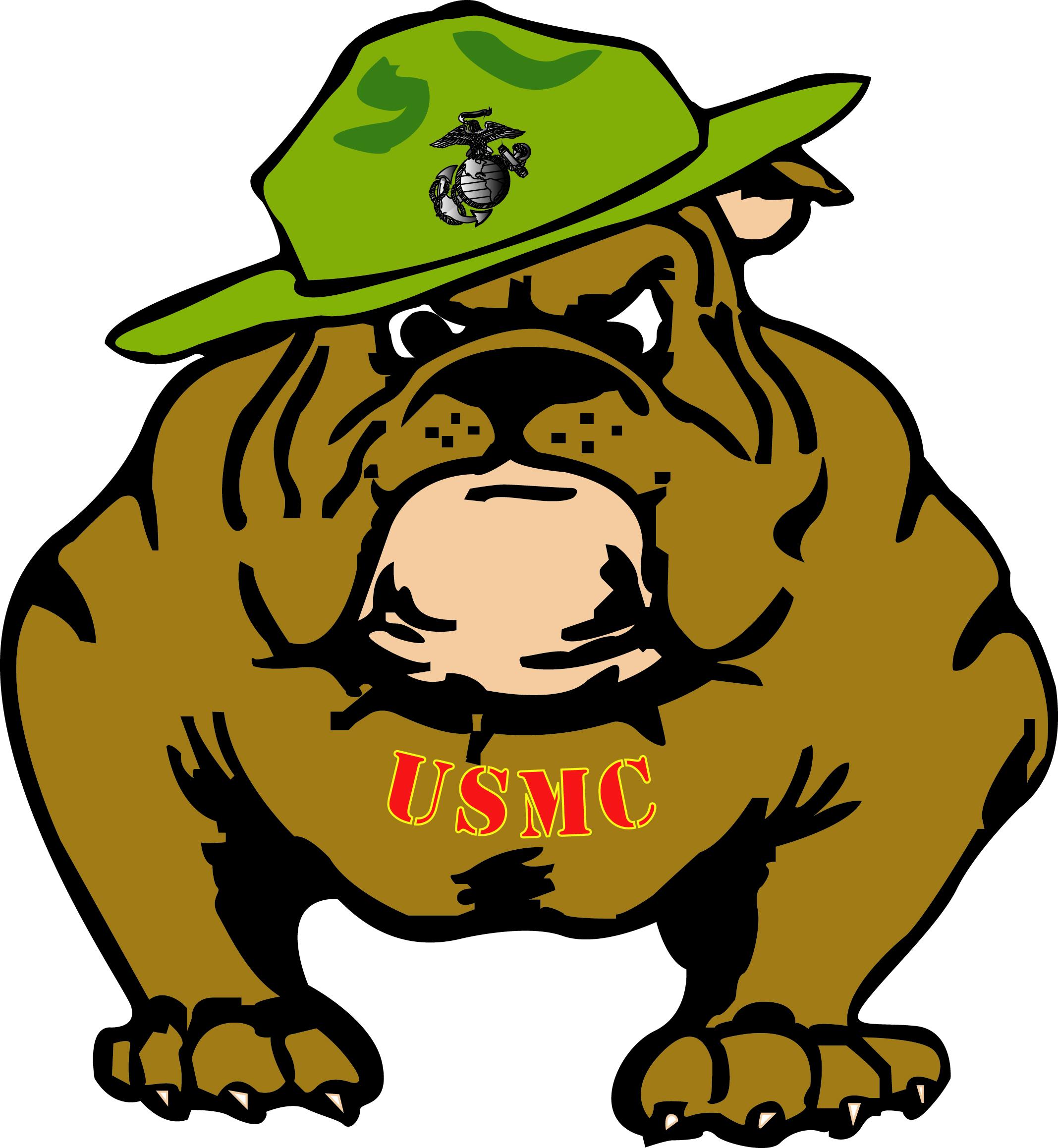 Marine Bulldog Clipart .