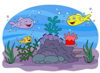 marine life sea anemone colorful fish clipart. Size: 86 Kb