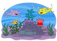 Marine Life Sea Anemone Colorful Fish Cl-marine life sea anemone colorful fish clipart. Size: 86 Kb-7