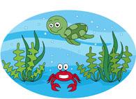 Marine Life Sea Turtle Red Crab Clipart.-marine life sea turtle red crab clipart. Size: 87 Kb-8
