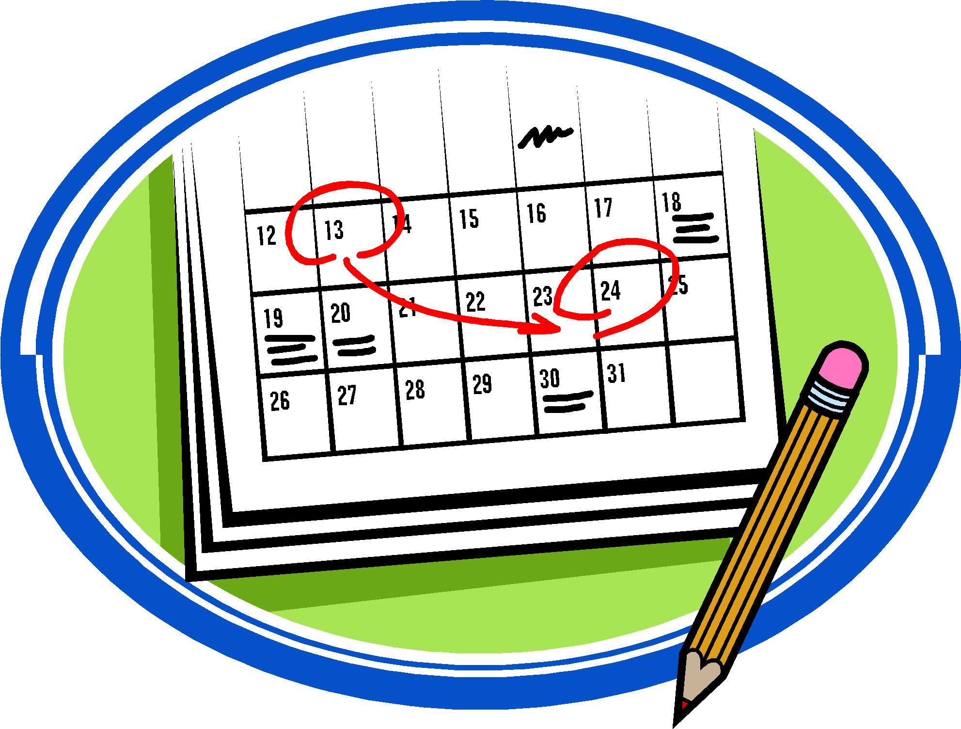 ... Mark Your Calendar Clipart ...