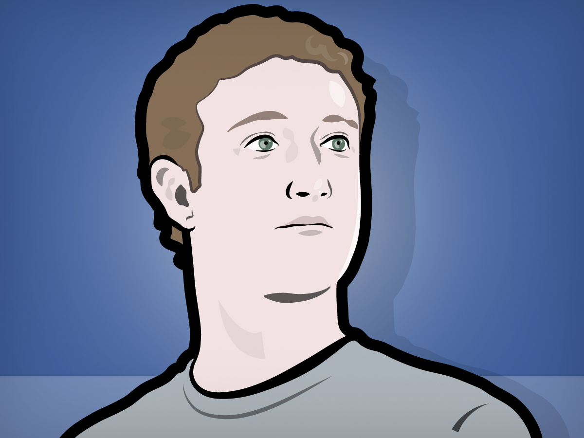 Mark Zuckerberg Facebook Portrait Illust-Mark Zuckerberg Facebook Portrait Illustration-12