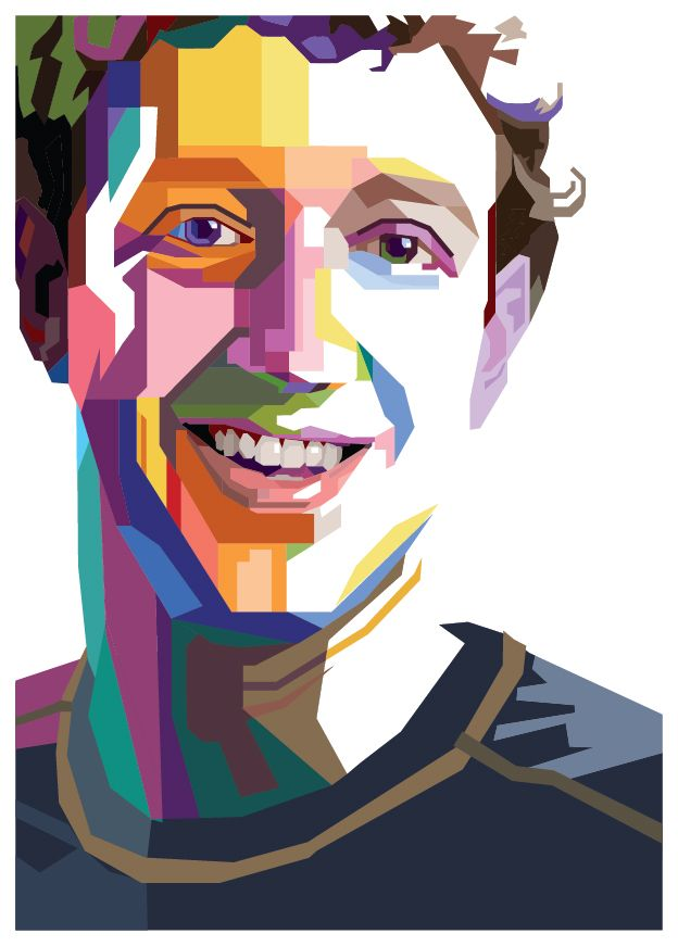 Mark Zuckerberg - Wedhau0027s Pop Art Po-Mark Zuckerberg - Wedhau0027s Pop Art Portrait-16