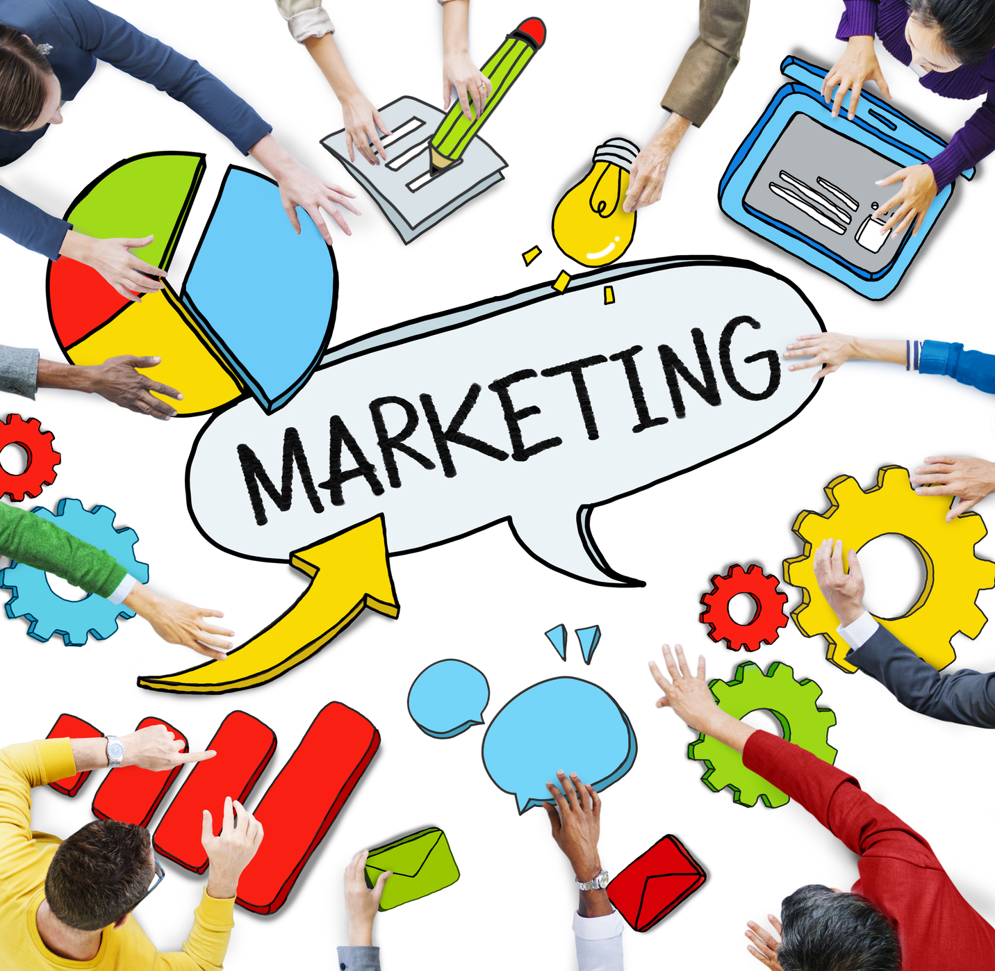 Group of People with Marketing Concept