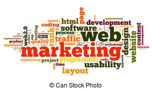 . ClipartLook.com Web marketing concept in word cloud on white background