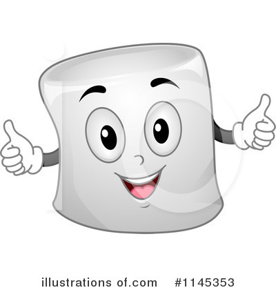 Marshmallows Clipart Black .