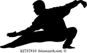 Martial Art - Tai Chi Clip Art
