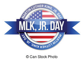 Martin Luther King Day stamp Clip Artby -Martin Luther King Day stamp Clip Artby roxanabalint14/712; Martin luther king jr. us seal and banner illustration.-13