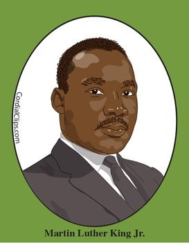 MARTIN LUTHER KING JR. Clip Art, Great F-MARTIN LUTHER KING JR. Clip Art, great for US History and Black History Month-6