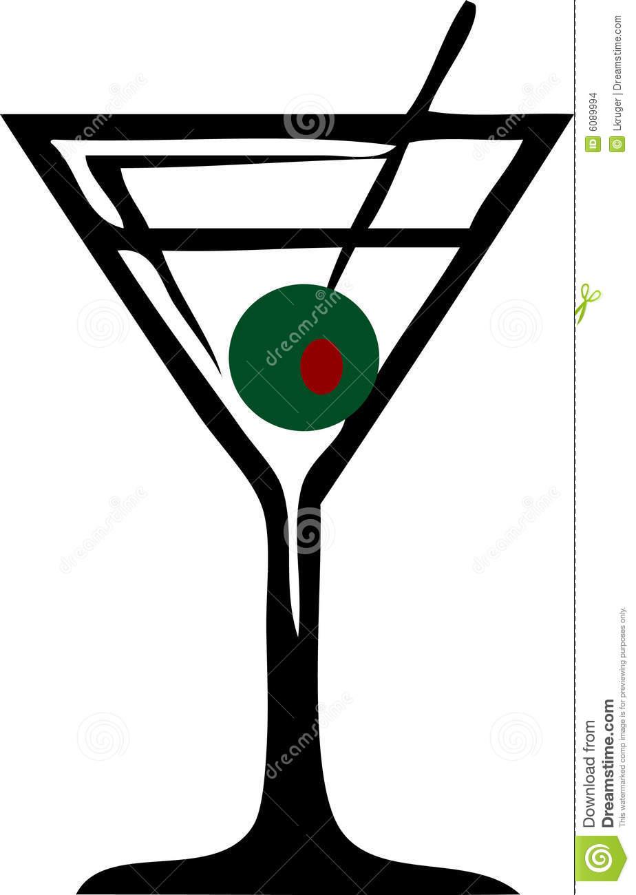 Martini Clipart Black And White Martini Glass