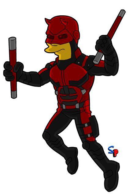 Daredevil Simpsonised - Springfield Punx