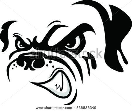 Mascot Head of bulldog