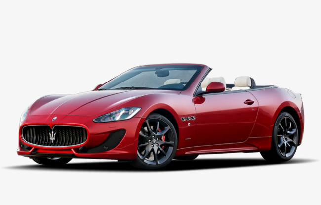 red convertible car, Maserati, Red, Convertible Car PNG Image and Clipart