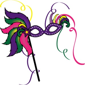 Mask Clipart Image A Feathered Mardi Gras Mask