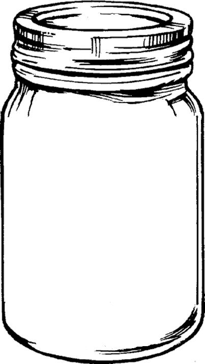 Mason jar clip art with .