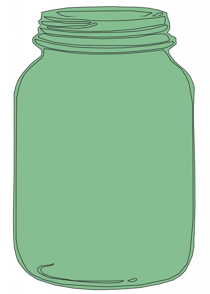 Mason Jar Wedding Clipart