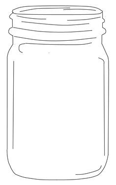 Mason jar with flowers clipart black and white mason jar printable