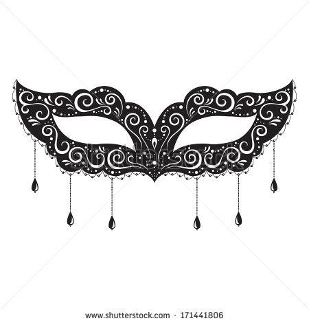 Masquerade Masks, White .-Masquerade masks, White .-13