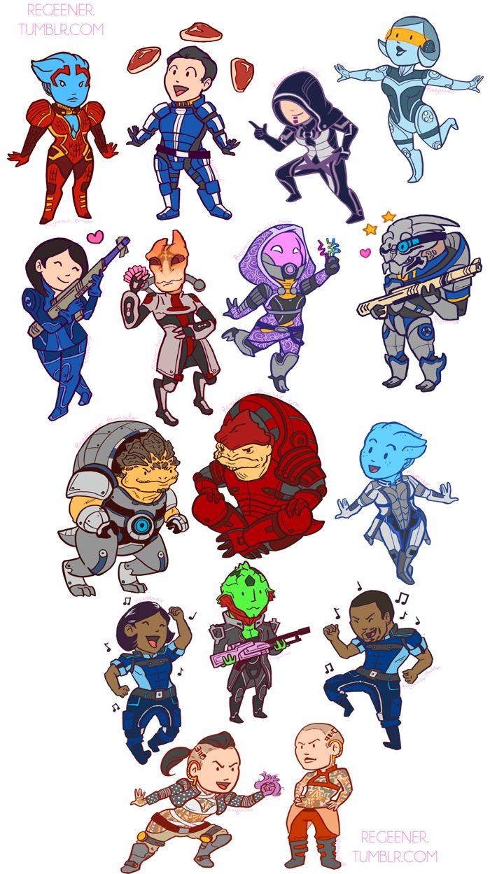 Chibi Mass Effect Squad.-Chibi Mass Effect Squad.-8