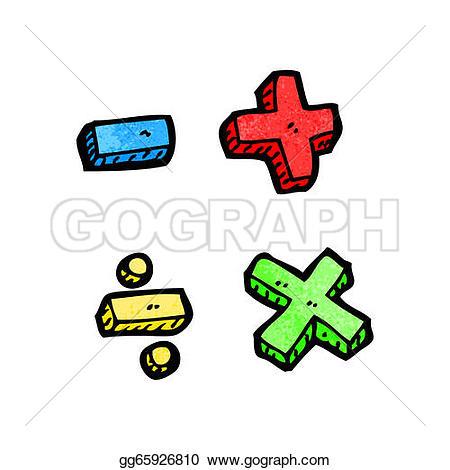 math symbols u0026middot; cartoon math symbols