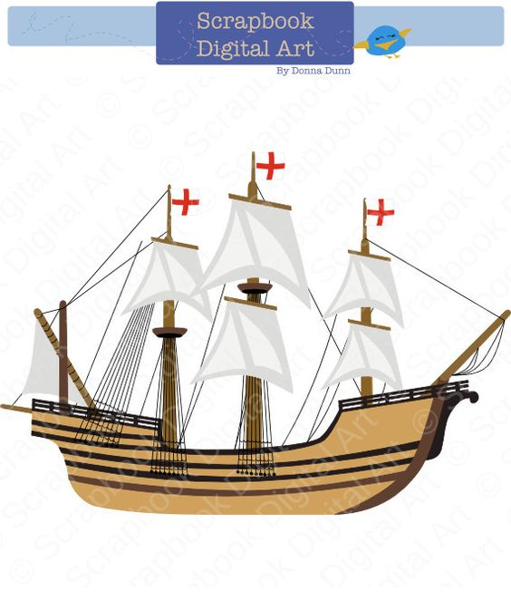 Mayflower Digital Clip Art. C - Mayflower Clip Art