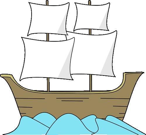 Mayflower Ship Clipart Large  - Mayflower Clip Art