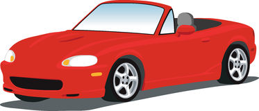 A vector Illustration of a Mazda Miata sports car isolated on white.