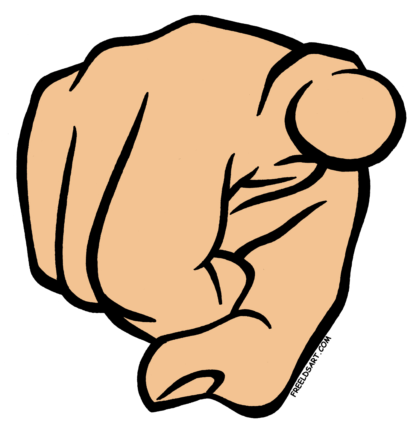 Me Pointing Finger Clipart