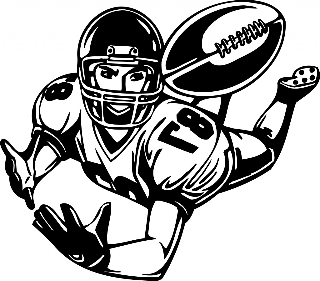 mean football player clipart