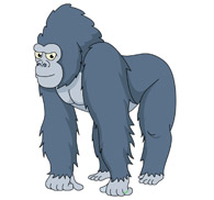 mean looking gorilla. Size: 4 - Gorilla Clip Art