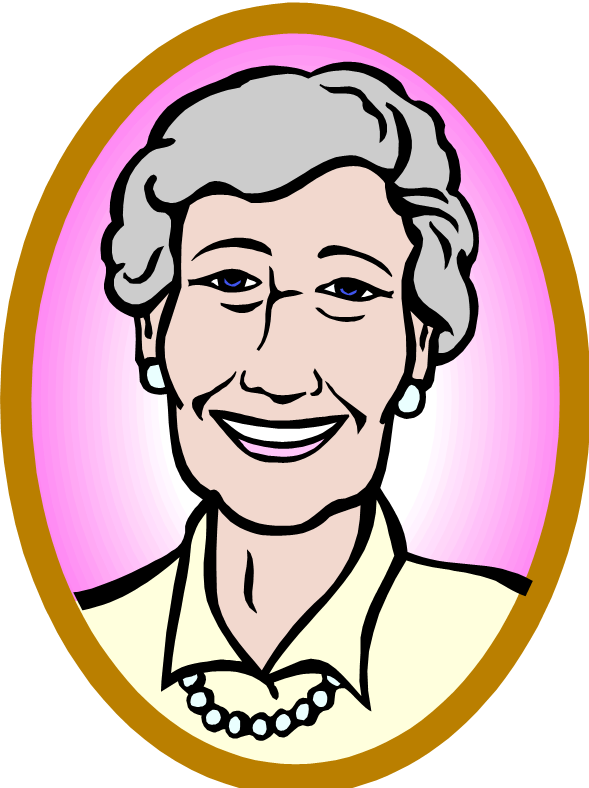 Mean Old Lady Clipart