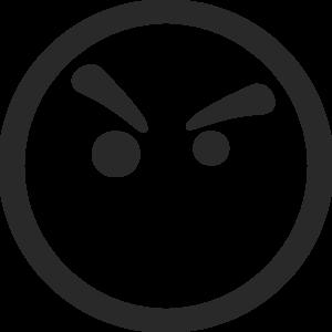 Mean Smiley Face Clip Art Clipart Best
