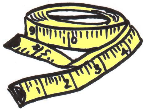 measuring tape clipart black and white