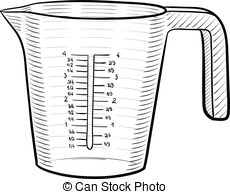 ... Measuring cup - A line art illustrat-... Measuring cup - A line art illustration of a measuring cup.-14