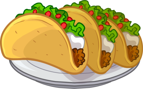 Meat taco clipart on the plate