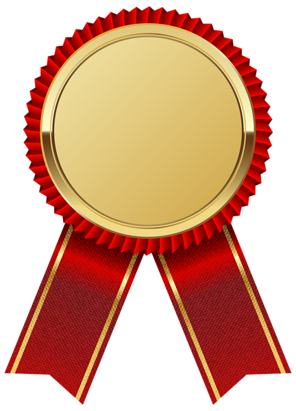 Gold Medal with Red Ribbon PNG Clipart I-Gold Medal with Red Ribbon PNG Clipart Image-2