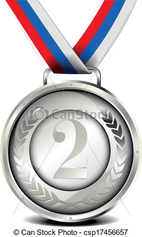 silver medal with ribbon - csp17456657-silver medal with ribbon - csp17456657-9