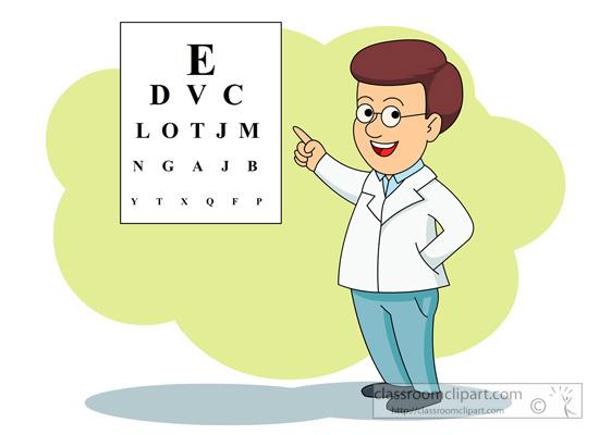 Medical Eye Doctor With Eye Exam Chart C-Medical Eye Doctor With Eye Exam Chart Classroom Clipart-14