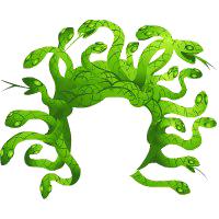 Medusa Hair Clipart