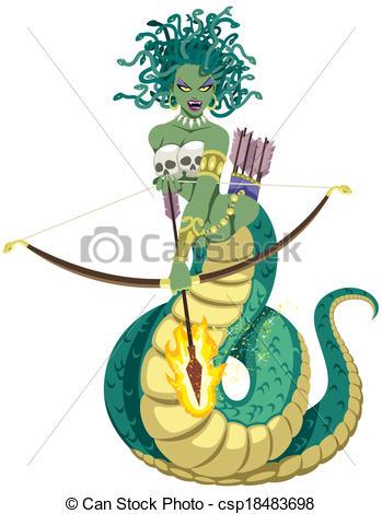 ... Medusa on White - The mythical Gorgon Medusa on white.