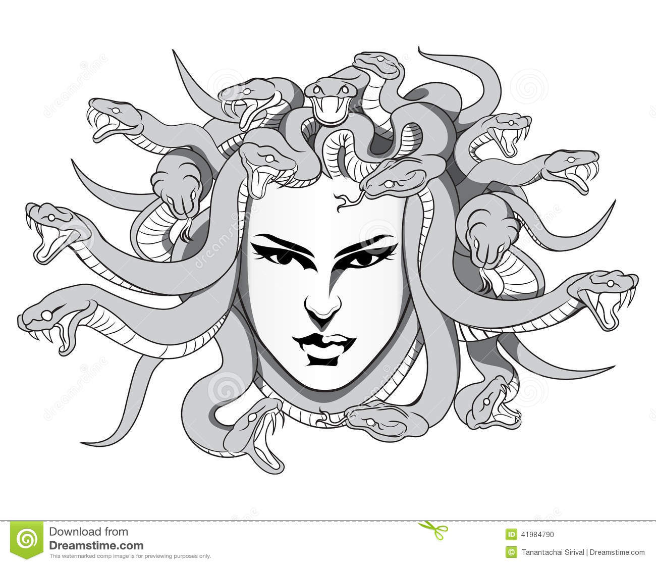 Medusa vector Stock Photo