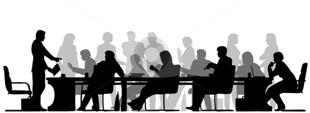 Meeting clip art black white free clipart images clipartcow