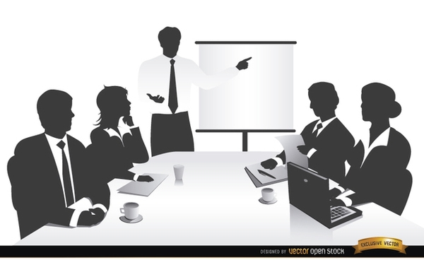 Meeting clipart free stock . Business Meeting People