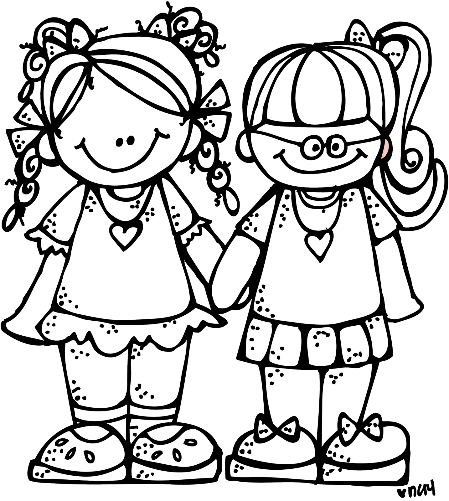 two boy friends clipart