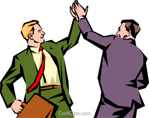 Men Giving Each Other A High-five Royalt-Men giving each other a high-five Royalty Free Vector Clip Art ..-18