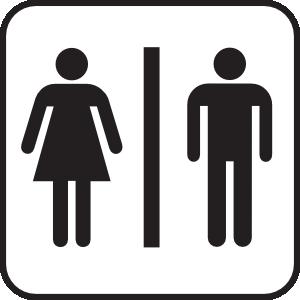 Men Women Bathroom Clip Art - Clip Art Bathroom