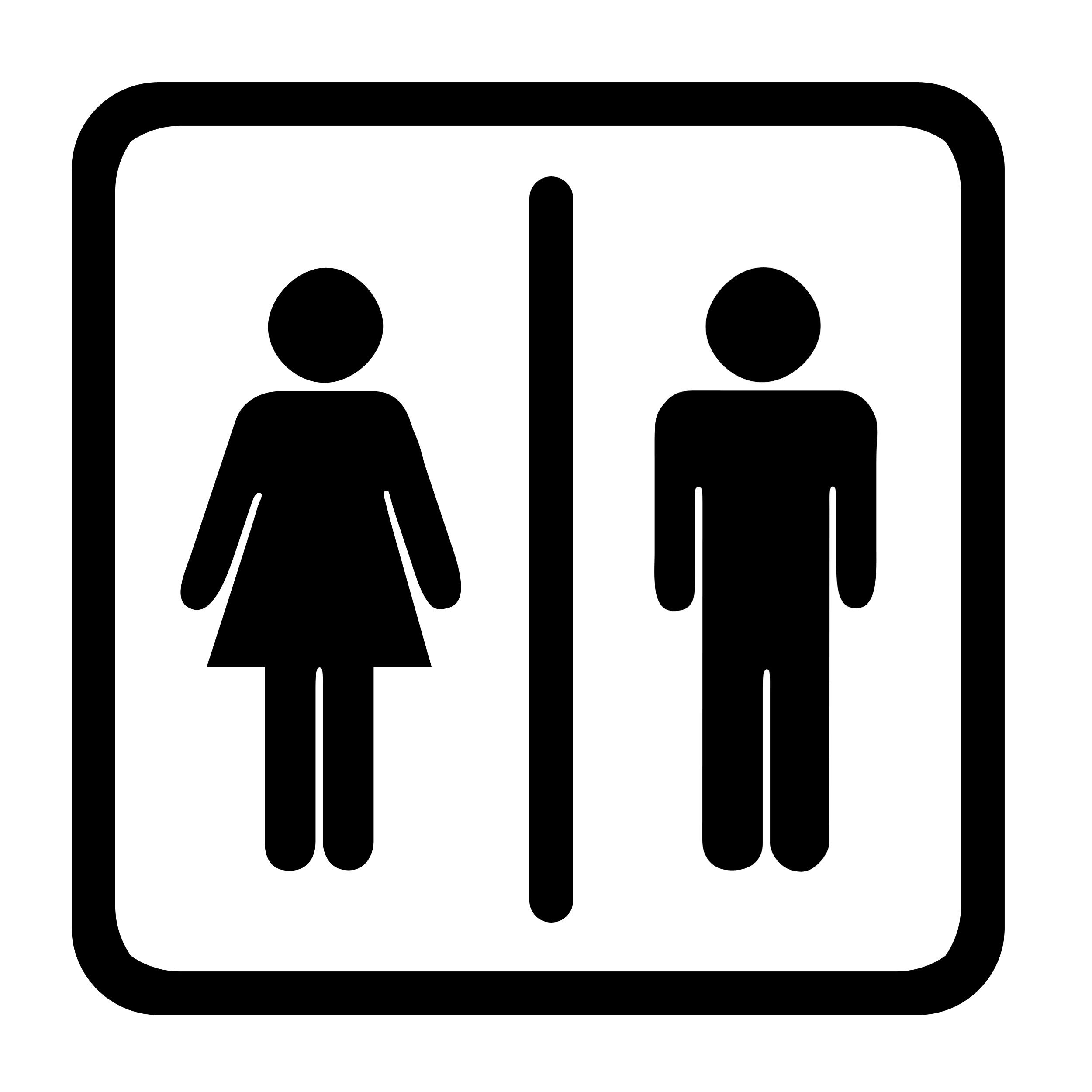 ... Men Women Bathroom Sign Clipart ...